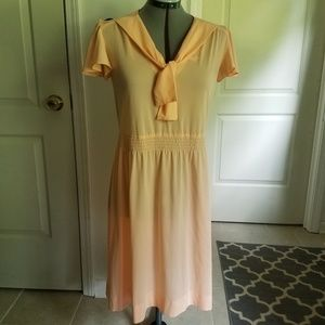True vintage peach sailor dress